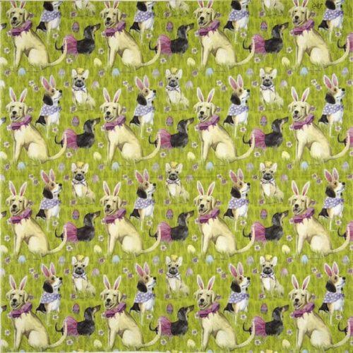Paper Napkin - Bunny dogs
