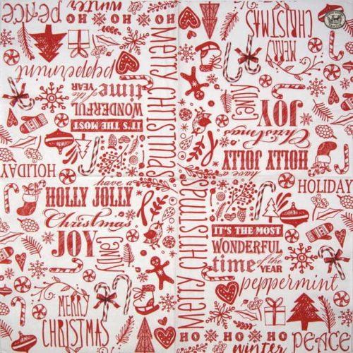 Paper Napkin - Ho ho ho