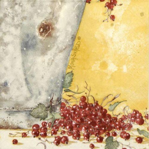 Paper Napkin - Mona Svärd: Red Currant