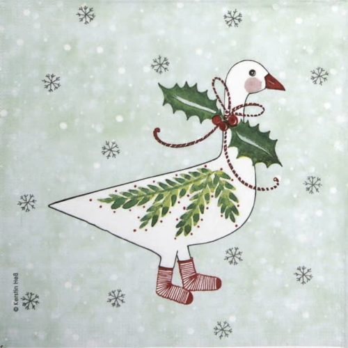Lunch Napkins (20) - Carson Higham: Christmas Goose