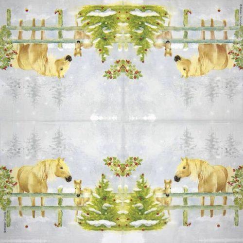 Paper Napkin - Maren Grande: Christmas Horses