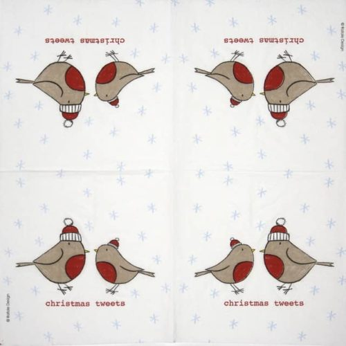 Paper Napkin - Rafale: Christmas Tweets