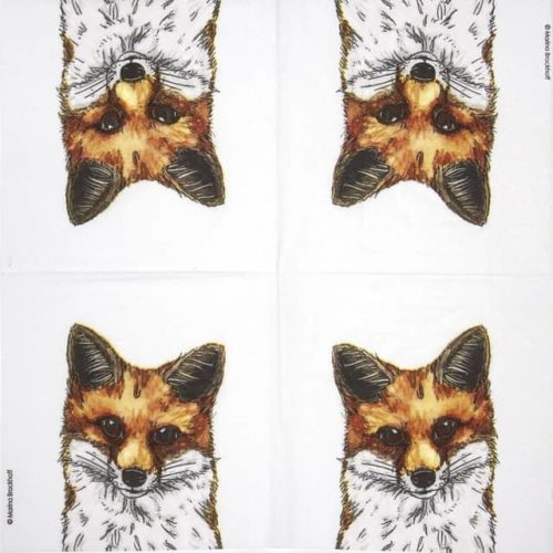 Paper Napkin - Marina Brockhoff: Fox