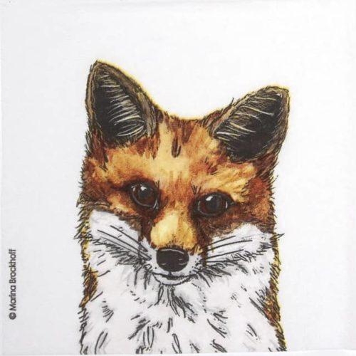 Lunch Napkins (20) - Marina Brockhoff: Fox