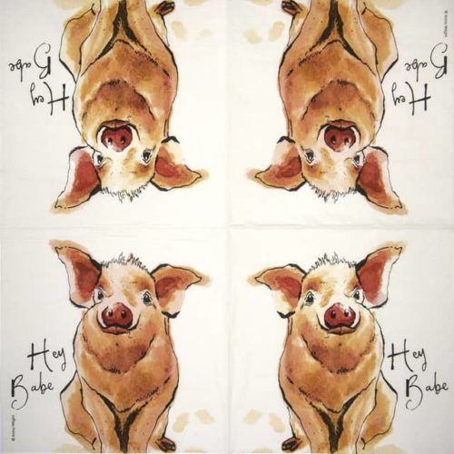 Lunch Napkins (20) - Anne Wrigh: Hey Babe