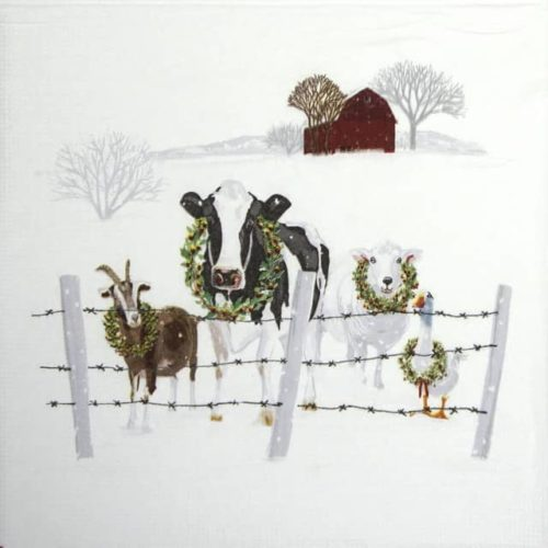 Paper Napkin - Nigel Quiney: Holiday Farm Friends_PPD_3334203