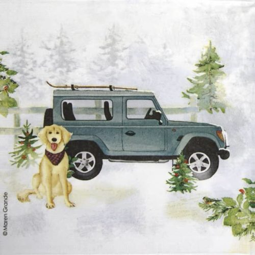 Lunch Napkins (20) - Maren Grande: Holiday Jeep