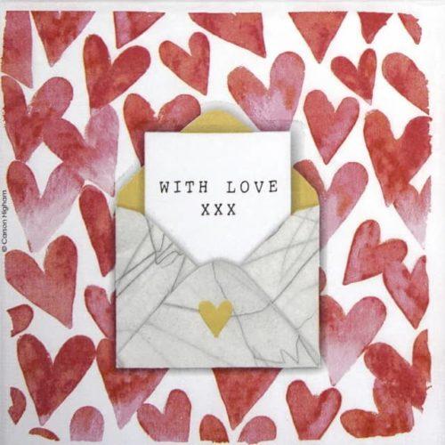 Paper Napkin - Carson Higham: Love Letter