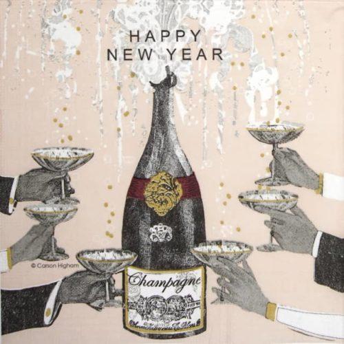 Cocktail Napkin - Carson Higham: New Year