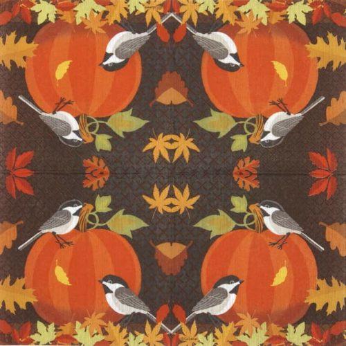 Cocktail Napkins (20) - Liz Leines: October Pumpkin