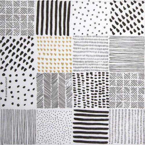 Paper Napkin -  Marina Brackhoff: Patchwork