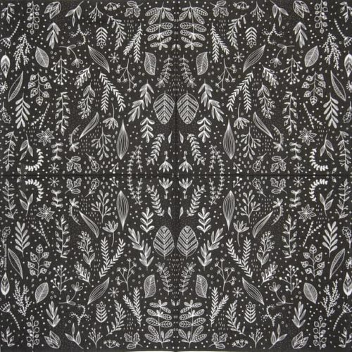Paper Napkin - Marina Brackhoff: Pure Flower black_PPD_1334091