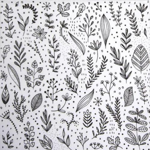 Paper Napkin - Marina Brackhoff: Pure Flower white_PPD_1334093