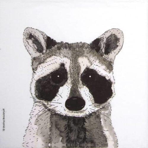 Paper Napkin - Marina Brockhoff: Raccoon