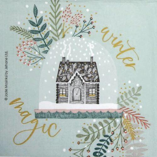 Paper Napkin - Jade Mosinski: Snowglobe