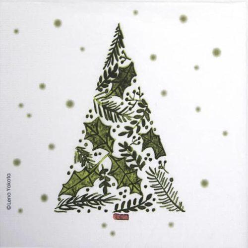Paper Napkin - Lena Yokota: Tree of Leaves PPD 3334169
