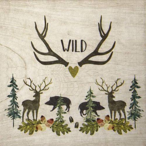 Lunch Napkins (20) - Ute Krause: Wild