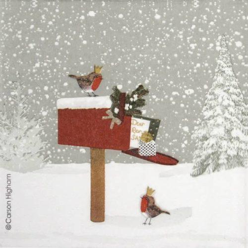 Paper Napkin - Carson Higham: Winter Mail