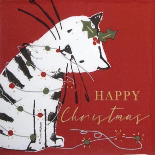 Paper Napkin - Carson Higham: X-mas Cat