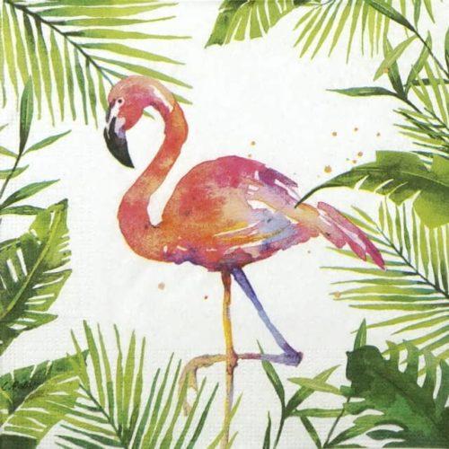 Paper Napkin - Carola Pabst: Tropical Flamingo