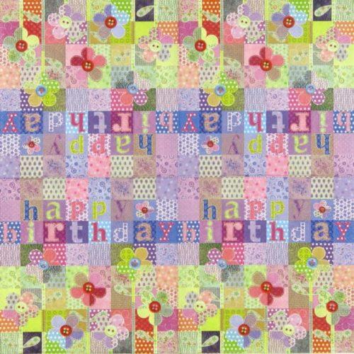 Paper Napkin - Patchwork Birthday