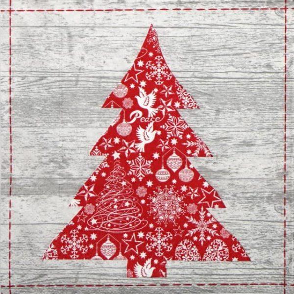 Paper Napkin - Red Tree