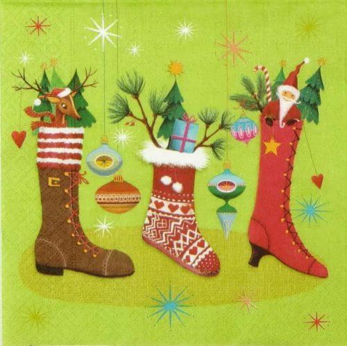 Lunch Napkins (20) -  Christmas Stocking