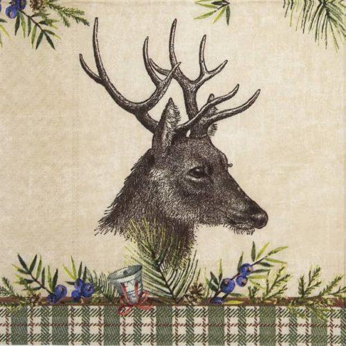 Cocktail Napkin -  Deer