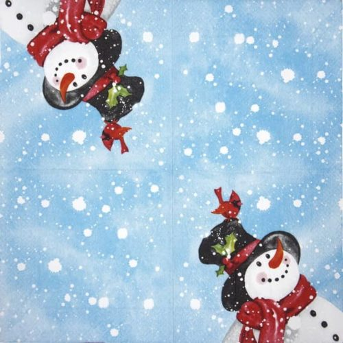Paper Napkin - Happy Snowman