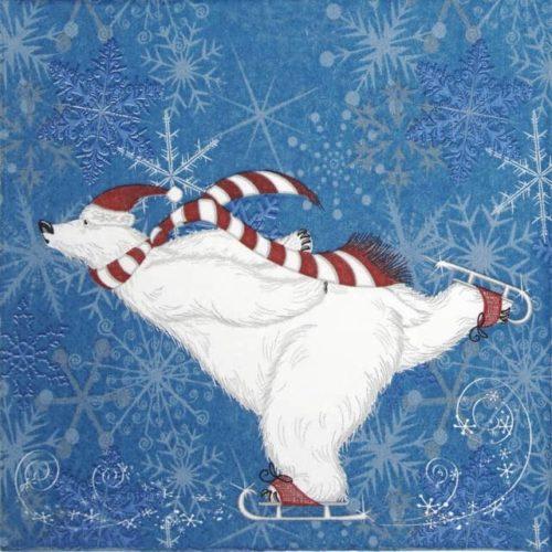 Lunch Napkins (20) - Polarbear skate