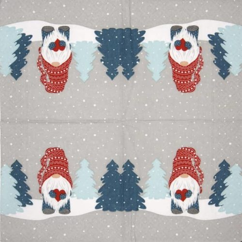 Cocktail Napkins (20) - Tomte in forest