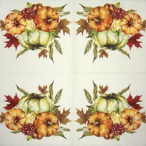 Paper Napkin - Watercolor pumpkins