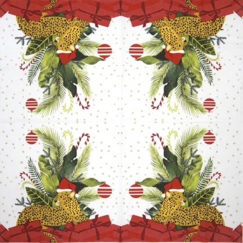 Paper Napkin - Wild Xmas