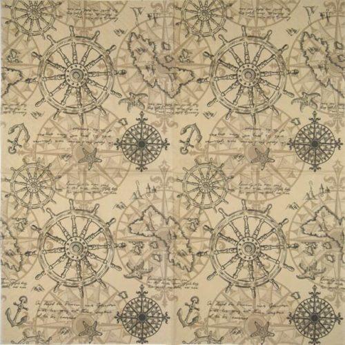 Paper Napkin - Cartography