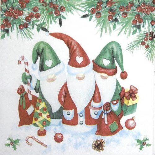 Paper Napkin - Christmas Gnomes Paw_SDL230500