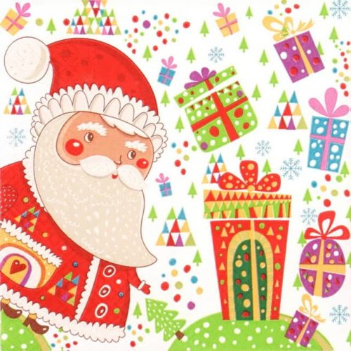 Lunch Napkins (20) - Santa with Gifts