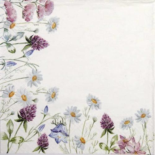 Paper Napkin - Spring Frame white