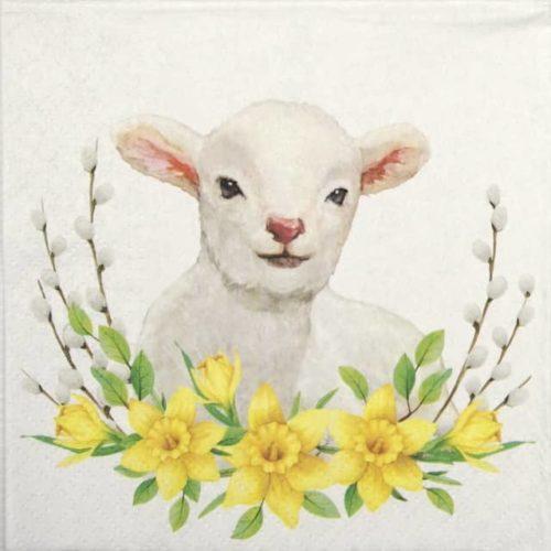 Paper Napkin - Lamb with Wreath