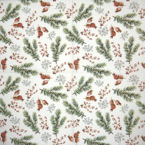 Paper Napkin - Christmas Berries - Paw
