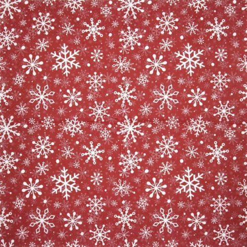 Paper Napkin - Christmas Snowflakes red - Paw