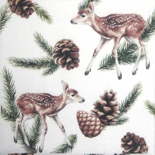 Paper Napkin - Deers and Cones - Paw