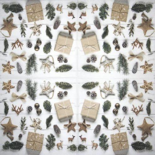 Paper Napkin - Natural Christmas - Paw