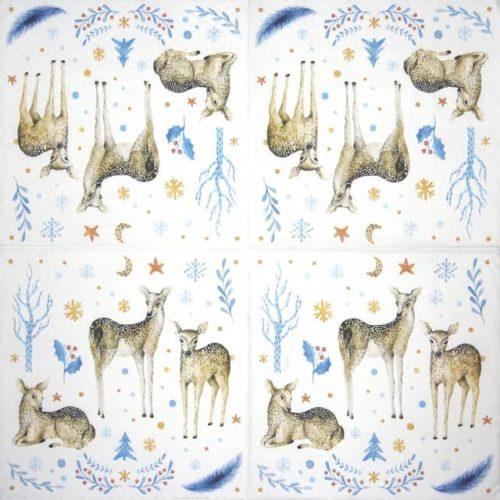 Paper Napkin - Reindeer Family Paw_SDL231700