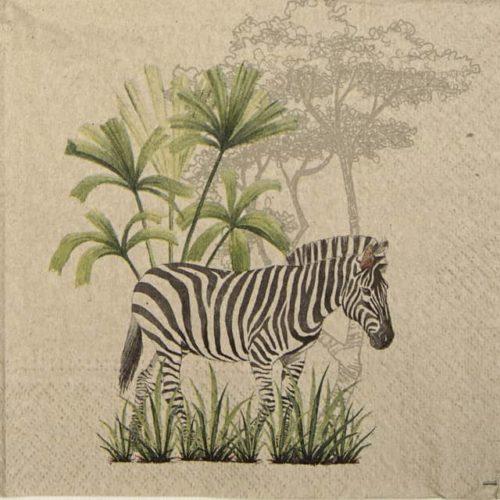 Paper Napkin - We Care Zebra
