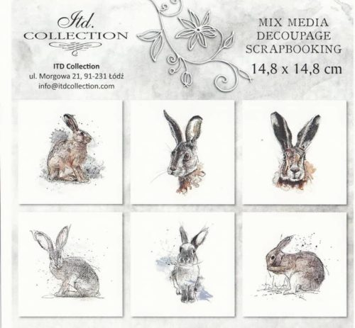 Rice Paper Set of 6 - Only Rabbits