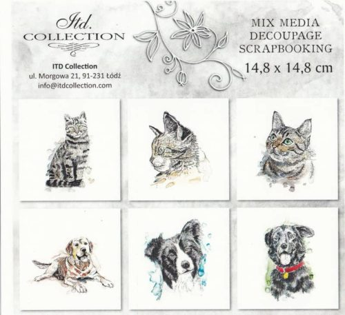 Rice Paper Set of 6 - Cats and Dogs