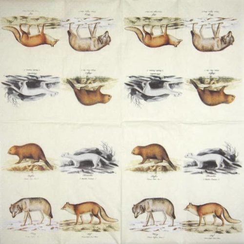 Paper Napkin - Nordic animals