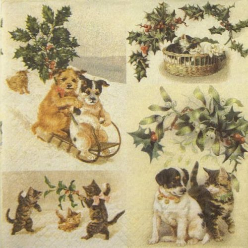 Paper Napkin - Christmas animals