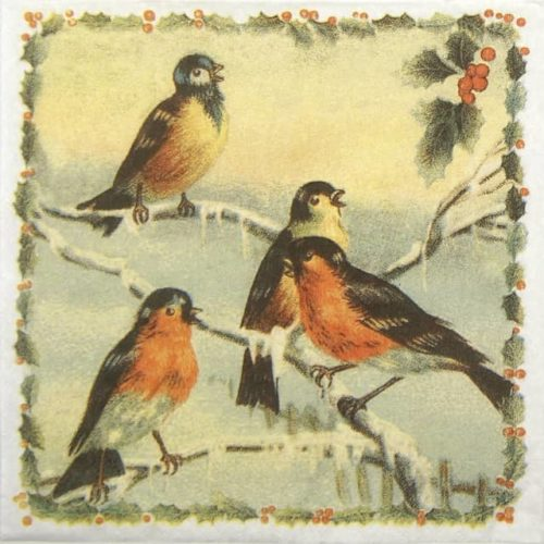 Paper Napkin - Christmas birds