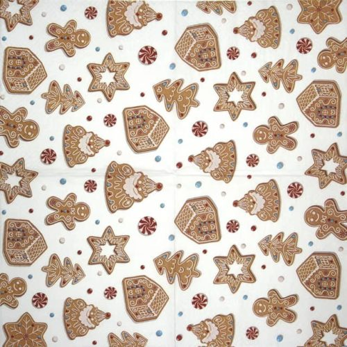 Paper Napkin - Christmas Gingerbreads_TETEáTETE_TL231400